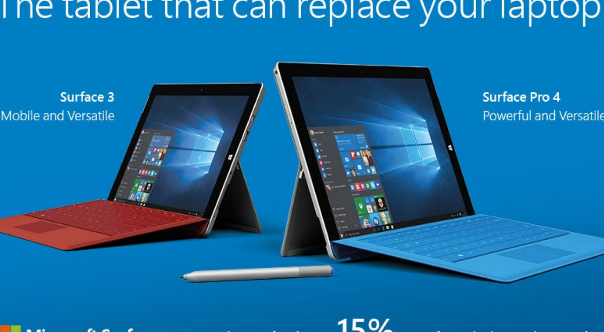 Microsoft Surface 3 and Pro 4 Exclusive 15% Discount - Projekt Neptun